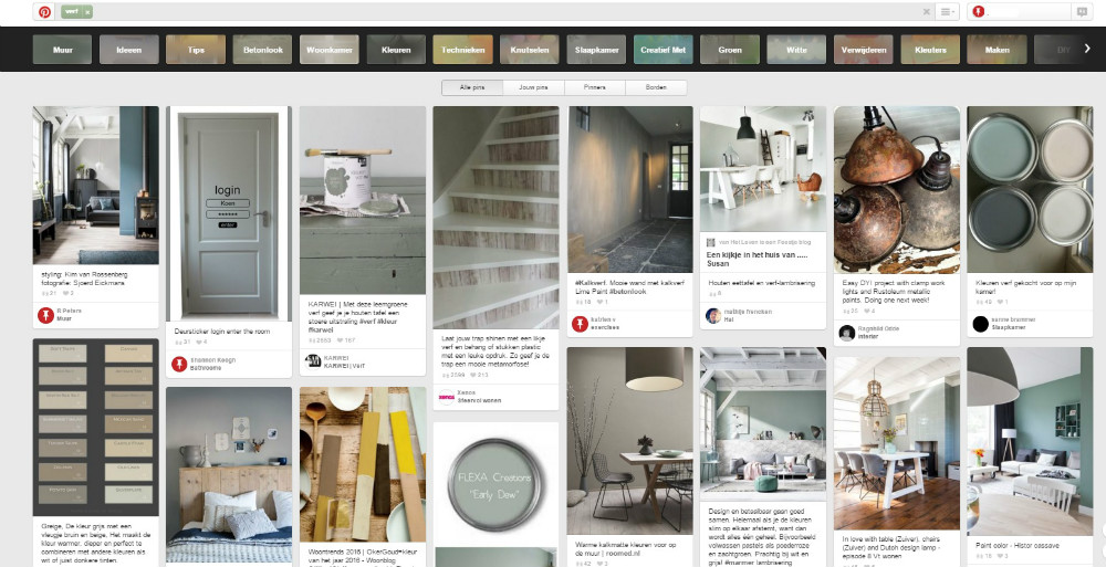 screenshot Pinterest
